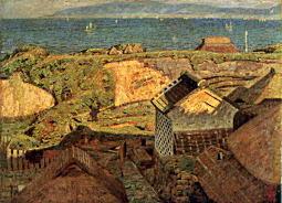 海辺の村(白壁の家)1910.jpg